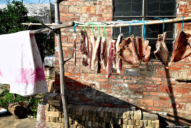 Air dry pork and fish