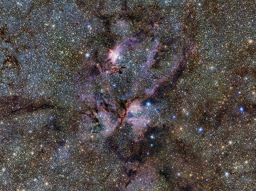 The Lobster Nebula seen with ESO's VISTA telescope