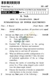 UPTU B.Tech Question Papers - EE-607-Fundamentals of Power Electronics