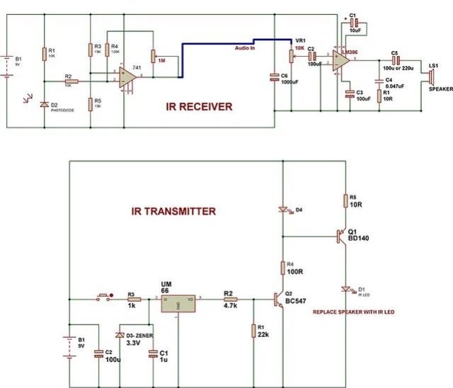 IR-music-transmitter-and-receiver