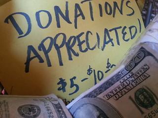 Donation basket