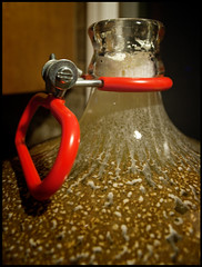 cleaning my glass carboy by madEthelFlint