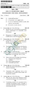 UPTU MBA (RD) Question Papers - MRD-402-Technologies for Rural Development
