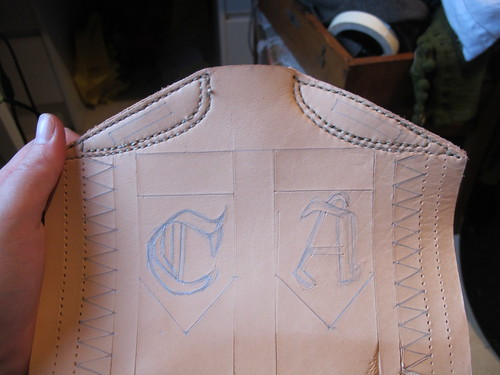 leather costrel 4