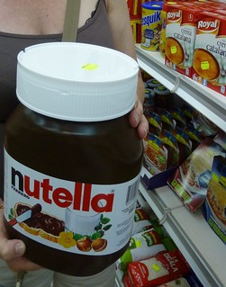 Large jar of Nutella