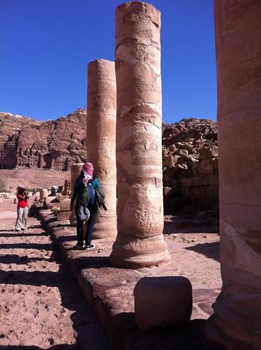 Hellenish columns in Petra, Jordan (February 2013)