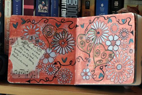 Art Journal: Marker, Pen, Acrylic Paint
