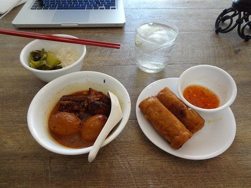 Thit Kho and Egg Rolls for lunch.