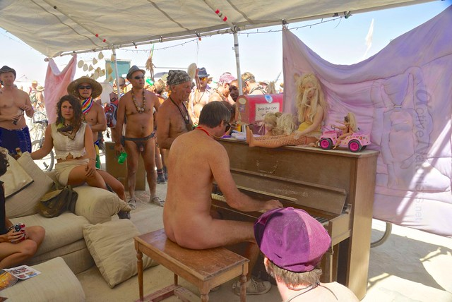 naturist 0011 Barbie Death Camp, Burning Man 2012, Black Rock City, NV, USA