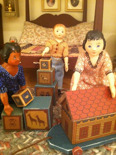 Playing with Noah's Ark set