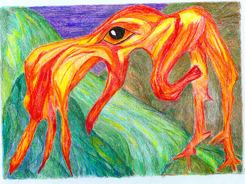 Orange yellow creature