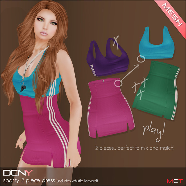 DCNY Panel 78_Sporty 2 Pc Dress @ The Deck