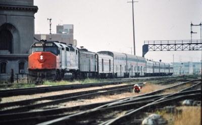 Amtrak SDP40 at Joliet IL 1975