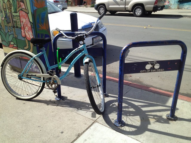 City of San Diego bike racks