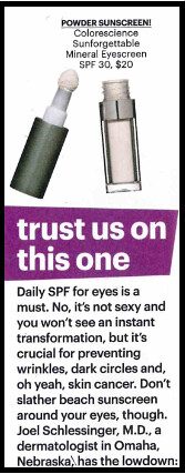 Joel Schlessinger MD Offers Anti-Aging and Sun Protection Advice for Eyes in SELF Magazine