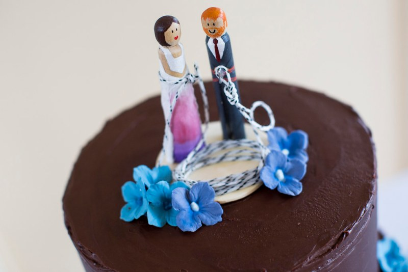 cutest little rock climbing cake toppers
