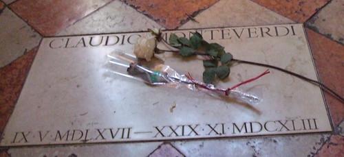 Claudio Monteverdi, lápida en Santa Maria Gloriosa dei Frari, Venecia by Hesperetusa