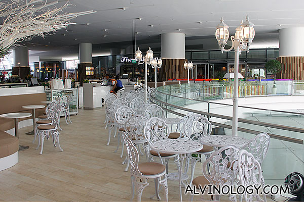 Pretty large seating area