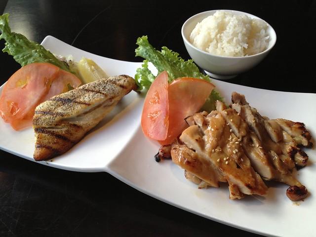 Miso chicken and saba shioyaki lunch combo - Wasabi Bistro
