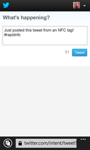 NFC to Twitter