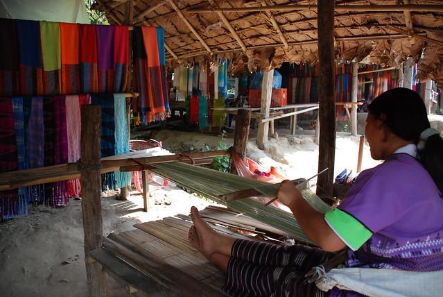 Karen Hill Tribe weaving