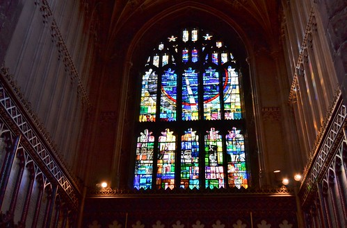 Stained Glass Window, Mcr Cathedral by Angela Seager
