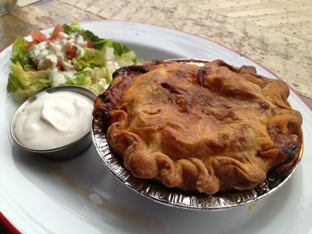 Red chile carne asada pie - Chile Pies