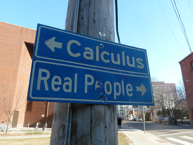 Real people, this way...