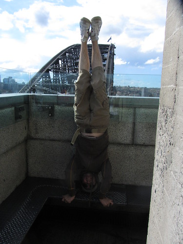 26. pylon lookout headstand