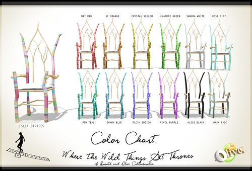 Where the Wild Things Are Color Chart