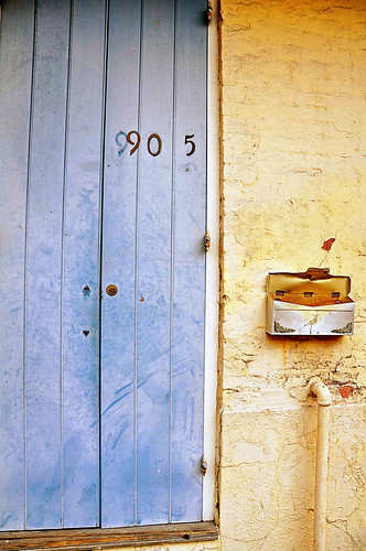 Yellow and Blue Door