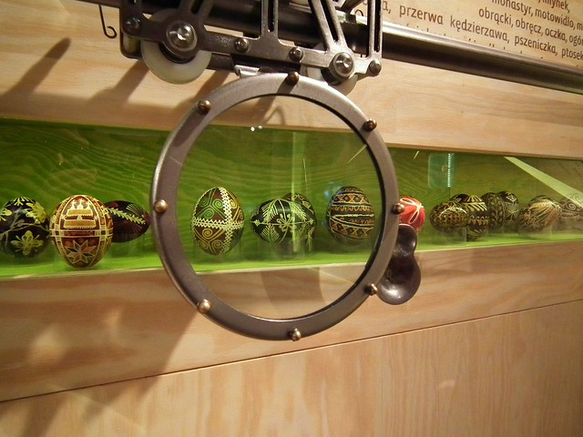 Polish pisanka - Easter eggs at the Ethnographic Museum in Kraków