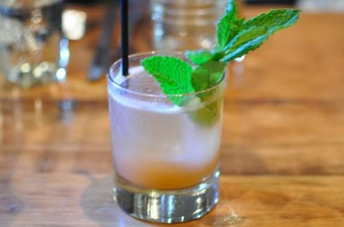 buggy whip punch aviation gin, lemon, mint, cucumber, angostura bitters, soda