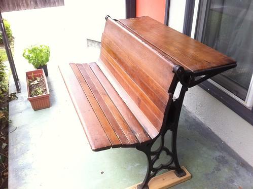 School bench desk by JohnEdgarPark
