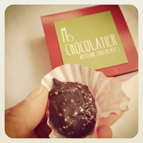 Caramel truffle from Ms. Chocolatier of SA - features our honey :-)