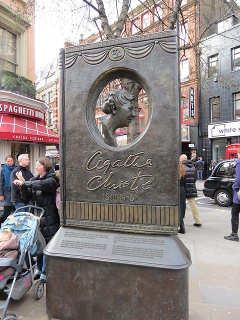 Agatha Christie statue near Leicester Square