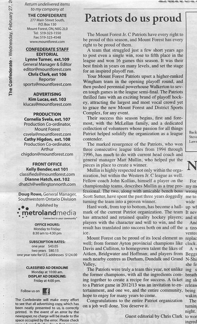 2013-02-27 Chris Clark Letter To The Editor Patriots