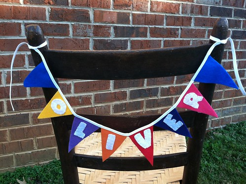 mini hand stitched pennant banners