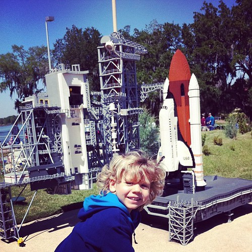 Finn's dream come true: the Space Shuttle AND Legos at the same time!