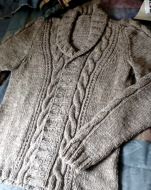 Simple Cable Cardigan 1l