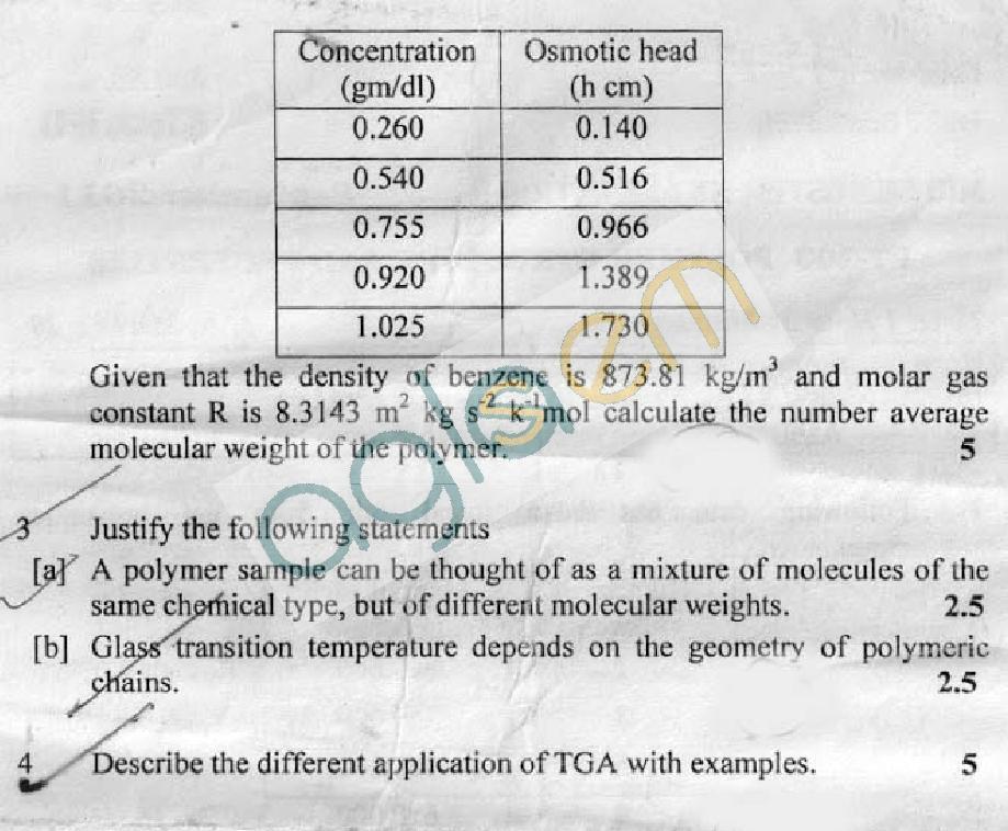 DTU Question Papers 2011 - 3 Semester - Mid Sem - PT-203