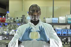 ILRI scientist Roger Pelle in ILRI labs in Nairobi, Kenya