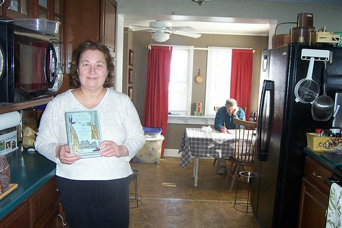Mary w/Christmas gift (book) - better late than never!