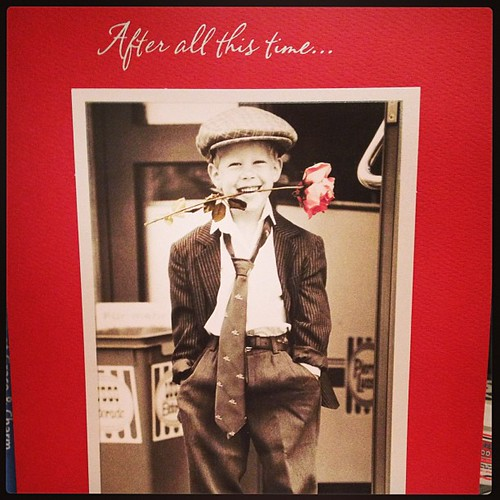 Feb 14 - red {on the cutest card from my Valentine}  #photoaday #valentine #love