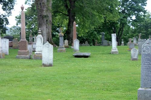 flat gravestone