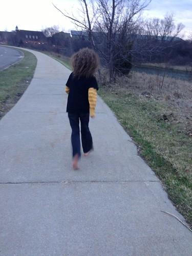 my son, the barefoot runner