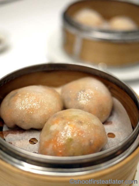 Red Lantern @ Solaire- vegetable dumplings with fermented red bean curd