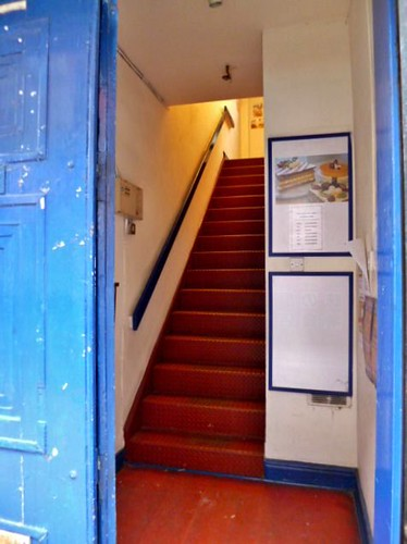 Blue Doorway, China Town, Manchester by Angela Seager
