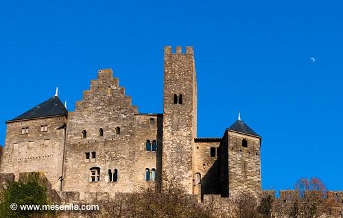 Castell dels Comtes de Carcassona, vist des de darrera