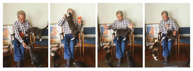 the fuzzies love their grandpa